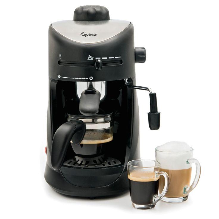 Have to have it. Jura Capresso 4 Cup Espresso & Cappuccino Machine - $59.99 @hayneedle.com