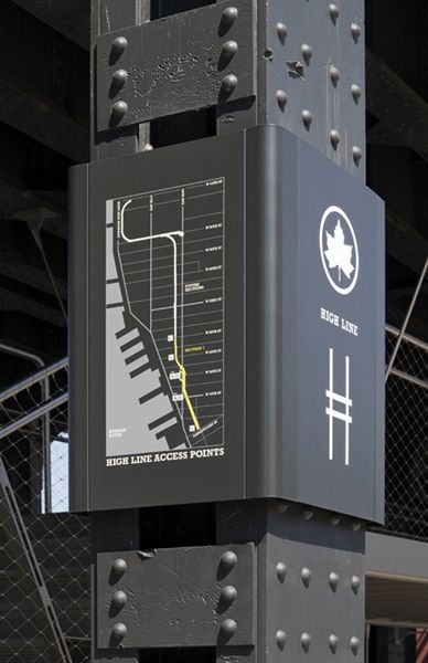 Paula Scher's identity for Friends of the High Line, designed in 2001.