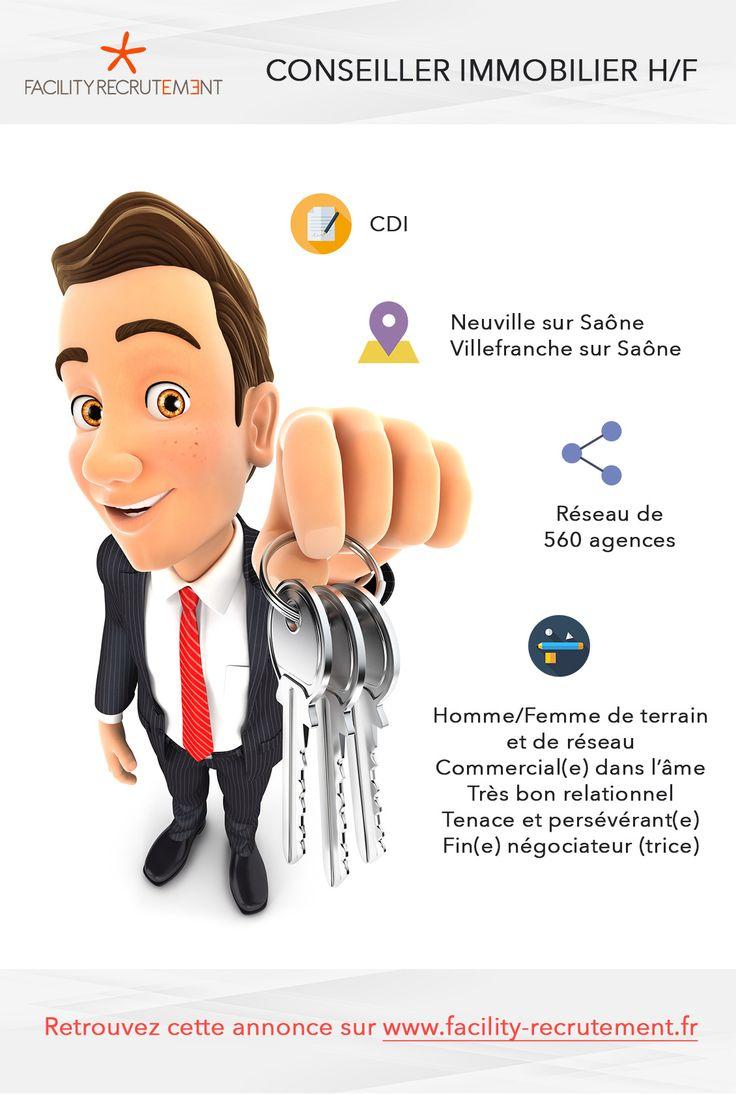 Offre d'emploi - 2 conseillers en immobilier H/F - Neuville sur saône / Villefranche sur saône