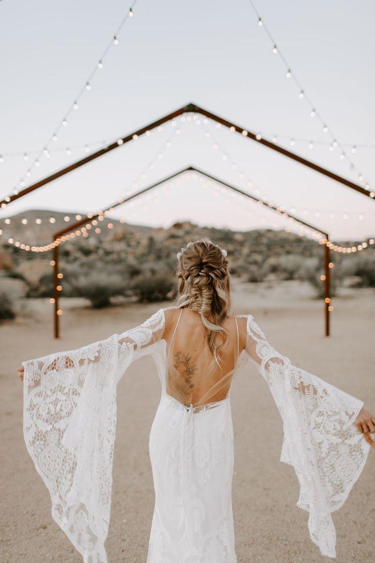 Wild Ones Boho Desert Bridal Inspiration Rue De Seine Bridal Wild Heart Co Wedding Dress Xyz Wedding Dress Long Sleeve Long Sleeve Bohemian Wedding Dress Wedding Dress Trends