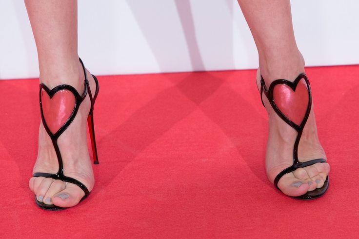 Olga Kurylenko in Christian Louboutin Cora Heart Sandals