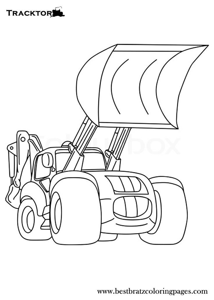 Tractor Colouring In Pages John Deere : 18 best construction coloring pages images on pinterest