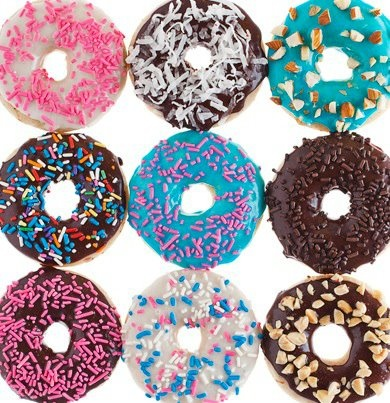 """Baked Sprinkle Doughnuts - from """"Chloe's Kitchen"""" by Chloe Coscarelli"""