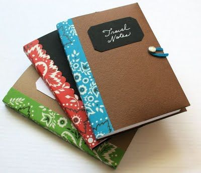 This is perfect!!! A must-do--and it looks easy to adapt to other sizes and books--this seems like a great way to spice up cheap-o spiral #notebooks (currently on sale for a penny!) and preserve their shelf life. Love it!