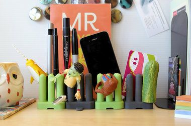 Cool, modern desk organizers created by Industrial Design students at the Cleveland Institute of Art.