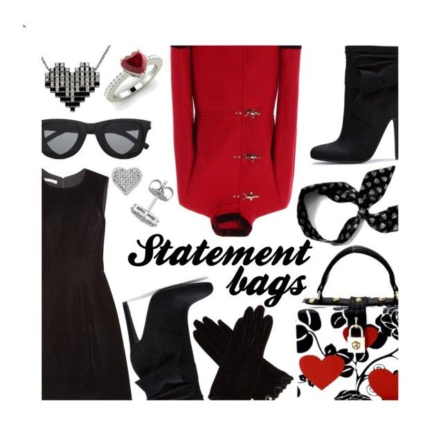 """""""Arm Candy: Statement Bags"""" by mia-christine ❤ liked on Polyvore featuring FAY, Oscar de la Renta, KimiKa, Yves Saint Laurent, Diamondere, AGNELLE and statementbags"""
