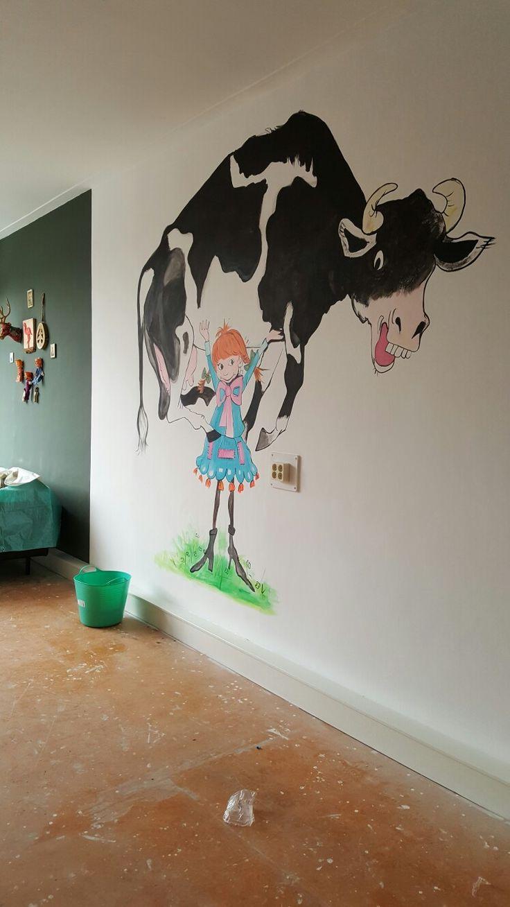Muurschildering bij Kinderdagverblijf Pippilotta in Amersfoort.