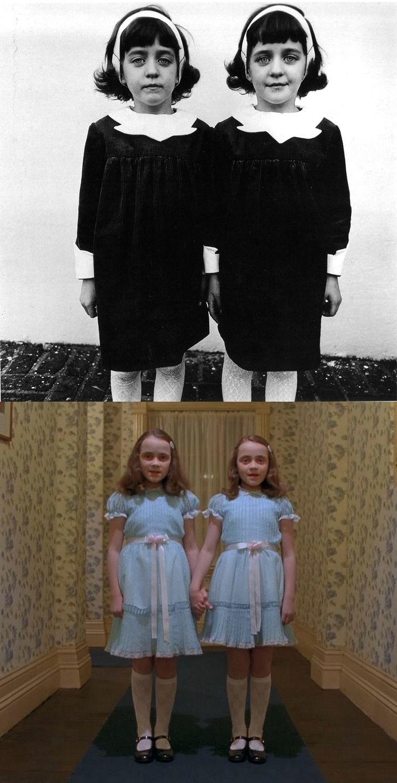Identical Twins (1967) - Diane Arbus The Shining (1980) - Stanley Kubrick