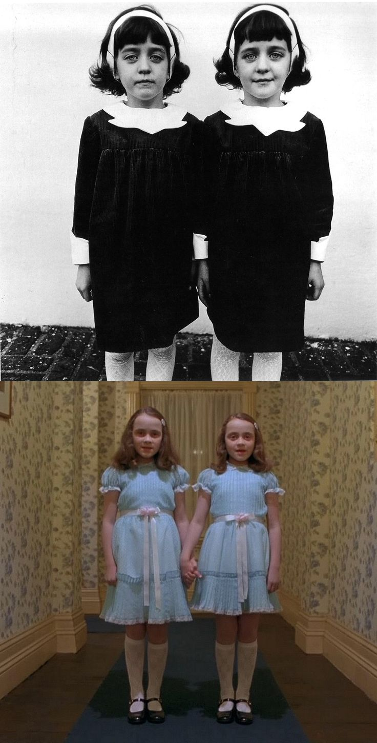 Identical Twins (1967) - Diane Arbus The Shining (1980) - Stanley Kubrick
