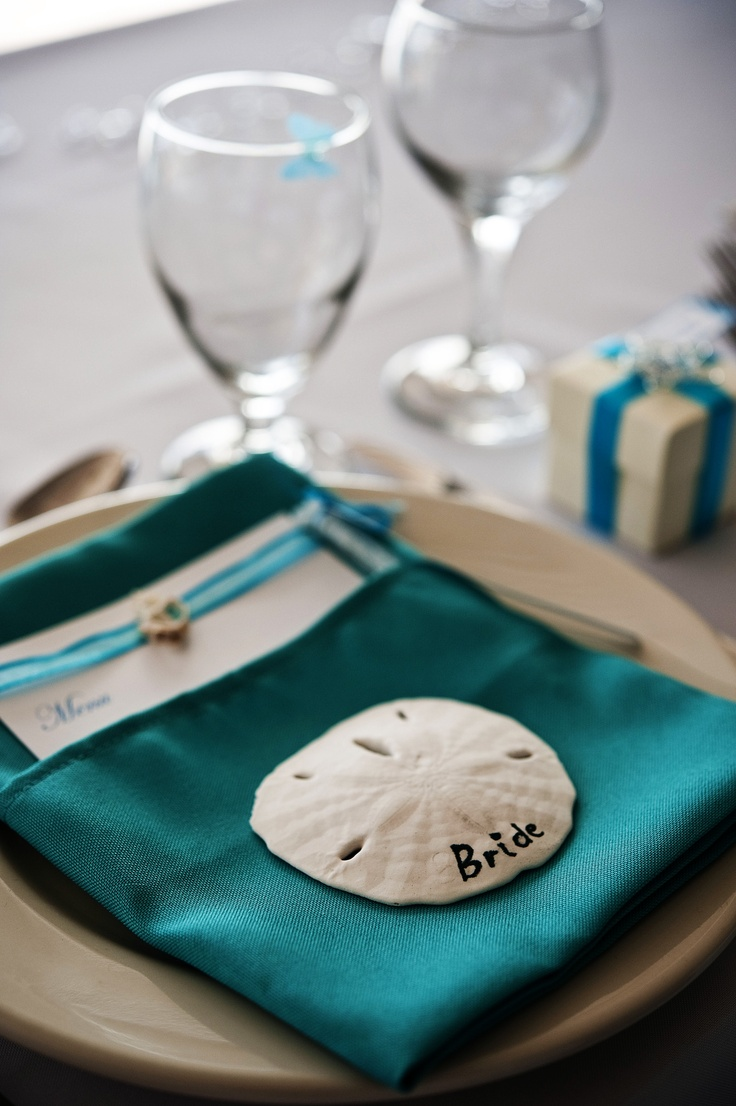 Sand Dollar Place Card Holders For The Rehearsal Dinner