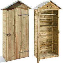 Armario de jardin de madera Mira