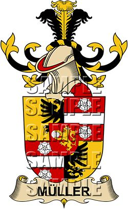 Muller Family Crest apparel, Muller Coat of Arms gifts