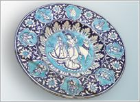 Блюдо, «джайпурская голубая керамика»