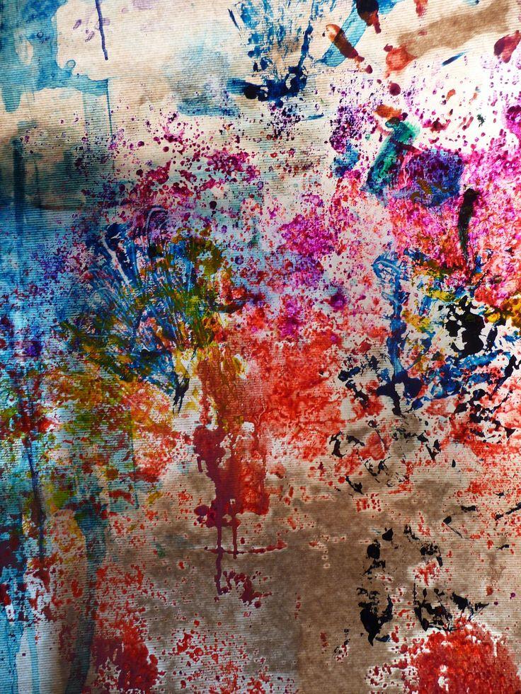Al ver estas manchas he pensado en una actividad a partir - Ver colores de pintura ...