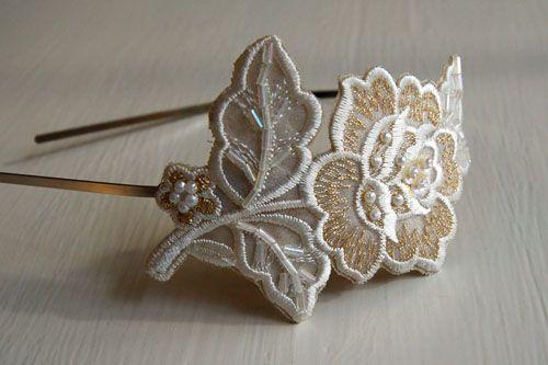 DIY appliqued headband idea    http://craftsnob.com/2010/12/flower-appliqued-headband/
