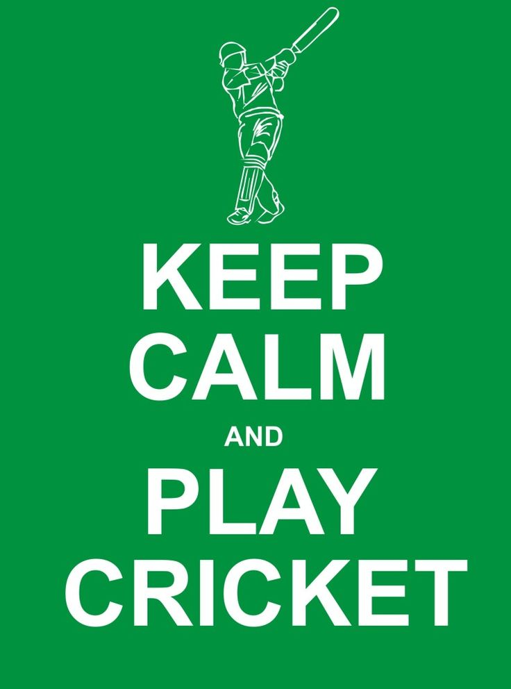 Keep Calm And Play Cricket