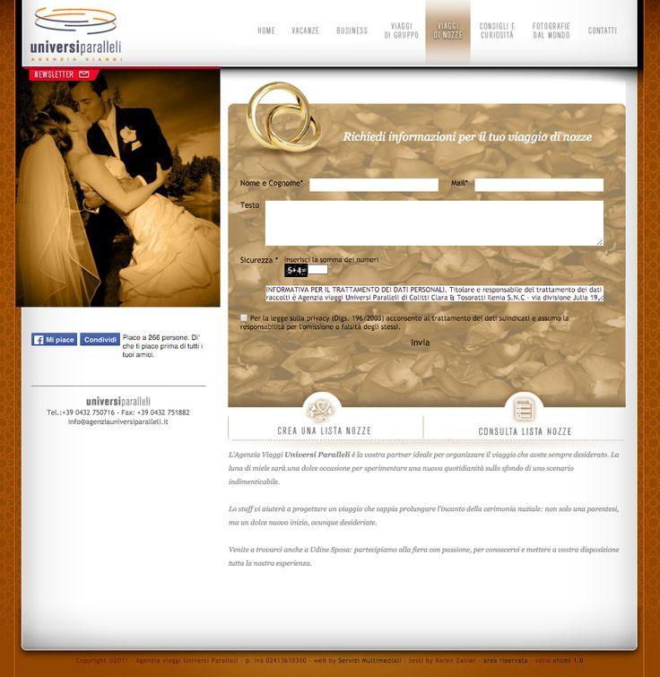 website copy                                                            customer: universi paralleli, travel agency