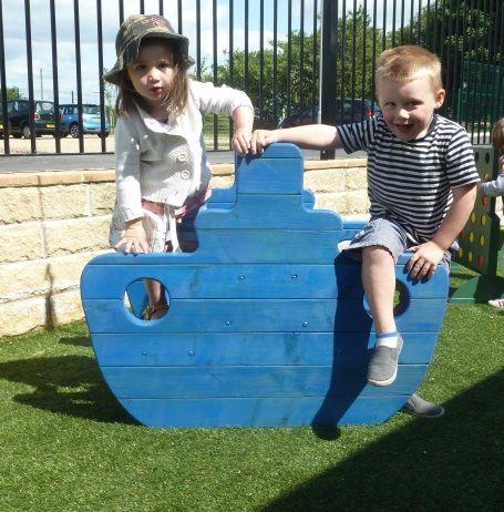 Little Chunky Blue Boat