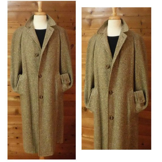 SOLD Rare Men's Vintage Overcoat Long Wool Coat Vintage by OpenMarketVintage #VintageCoat #LongCoat #WoolCoat #WoolOvercoat #LongVintageCoats #MensLongCoat #VintageOvercoat #LongWoolCoat #FiftiesCoat #50sCoat #VintageFashion