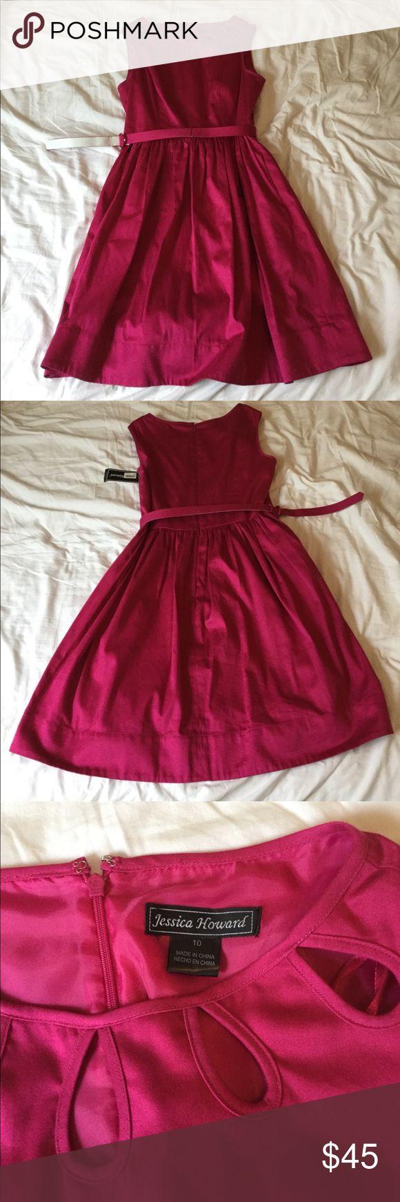 Jessica Howard Pink Dress Size 10 pink (Fuschia) Jessica Howard dress with belt. Has not been worn and still has the tag on it. Jessica Howard Dresses