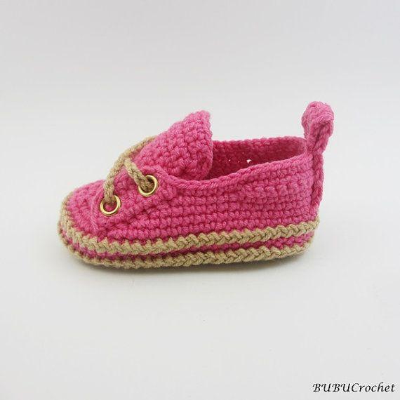 Del ganchillo zapatos de bebé zapatos de bebé por BUBUCrochet                                                                                                                                                      Más