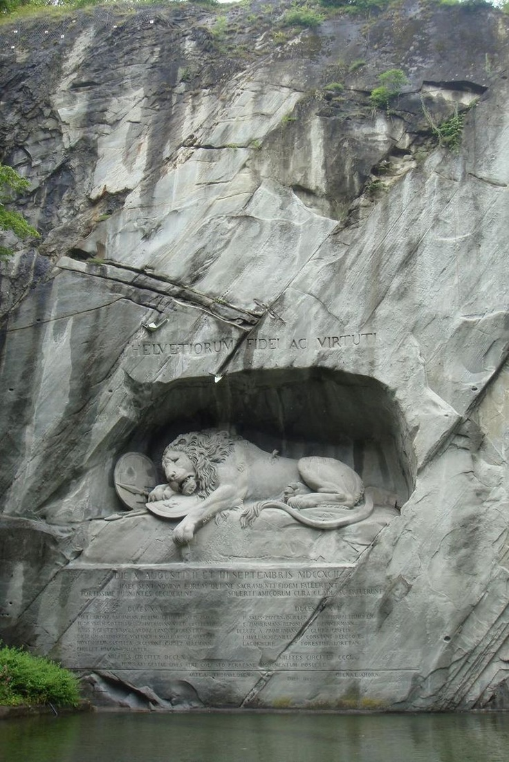 The Lion Monument at Mount Pilatus - I have photos from when I was there, but I need to go back with my family.