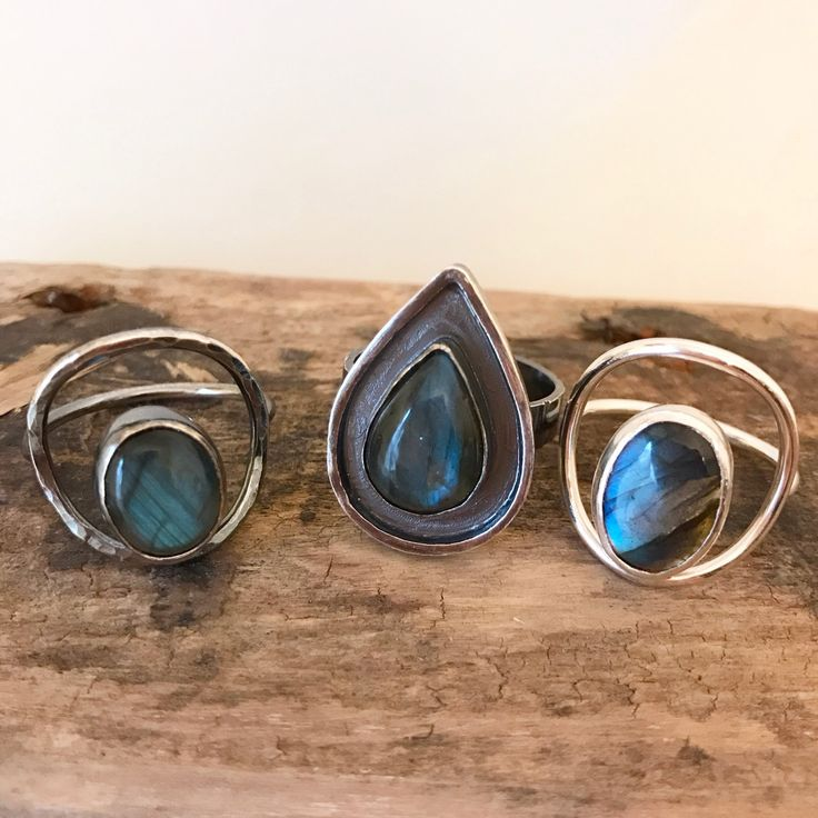 These lovely labradorite rings are now available!