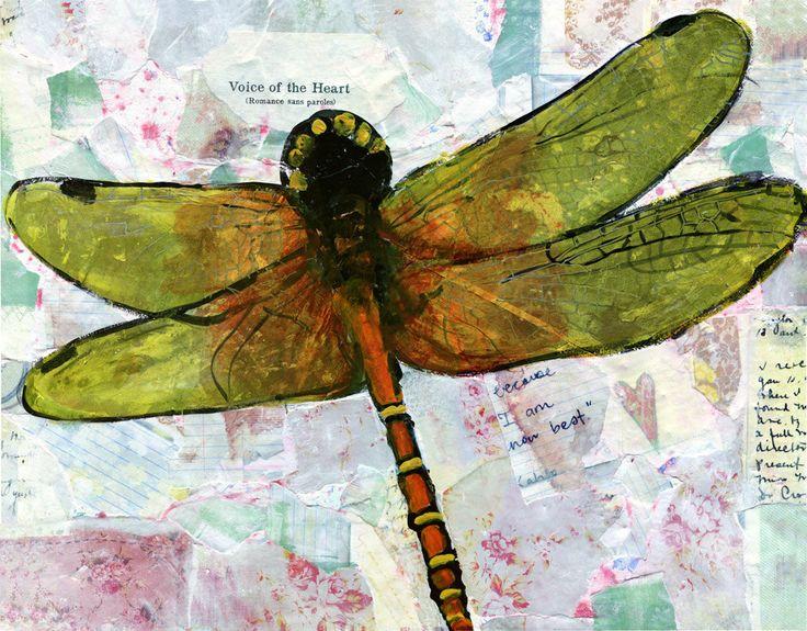 Canvas Print Dragonfly Wall Art PRINT Mixed By SchulmanArts