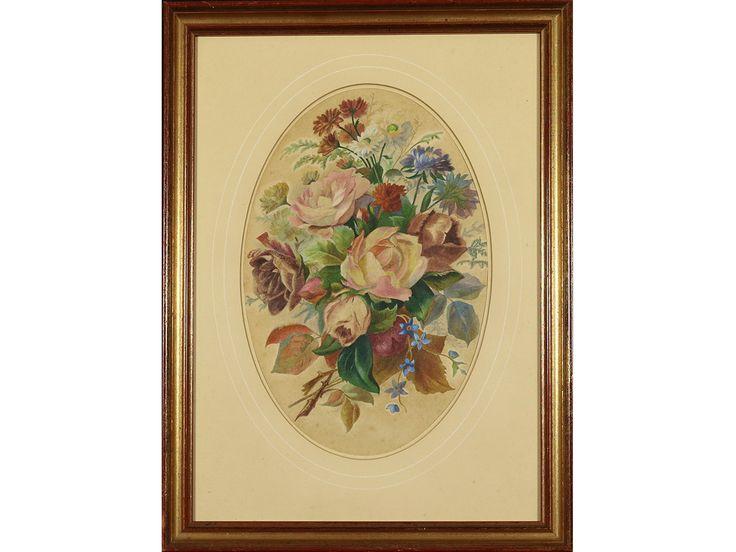 Rose Bouquet, Still Life by British School, 20th Century artist.