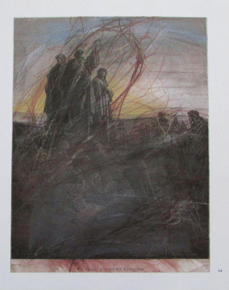 Arnulf Rainer DIE APOSTEL PREDIGEN DAS EVANGELIUM Übermalung Kunstdruck print | eBay
