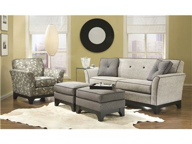 Smith Brothers Two Cushion Sofa U0026 Accent Chair