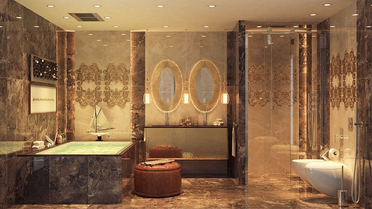 Exotic bathroom trends this month || Get relaxed in one of the finest pieces in your house and follow the latest interior design trends || #interiordesign #luxuryfurniture #luxuryroom || Visit to see more: http://homeinspirationideas.net/category/room-inspiration-ideas/bathroom
