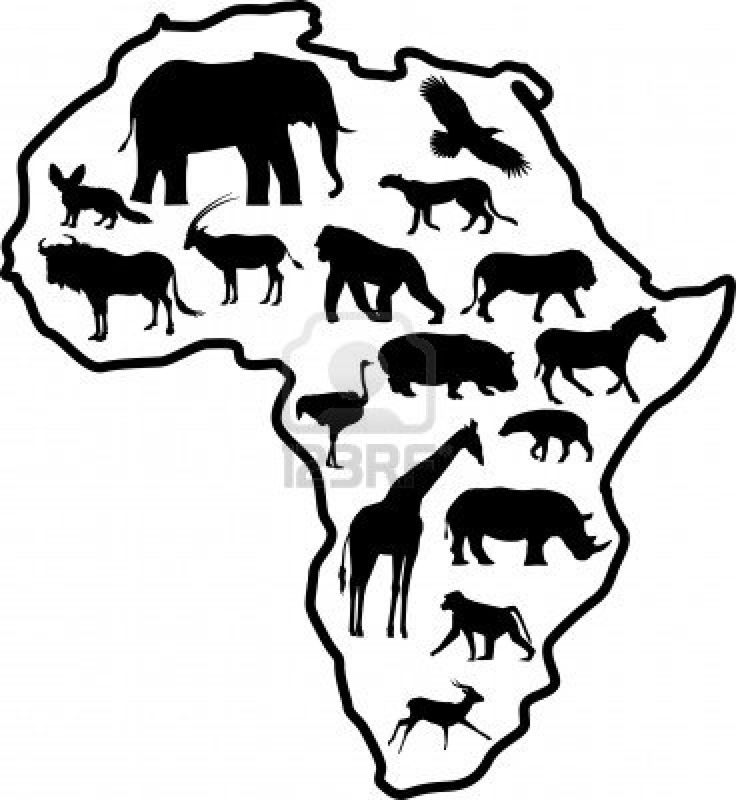 Safari Animals Coloring Pages: 10 Best Images About Preschool Africa Theme Craft On