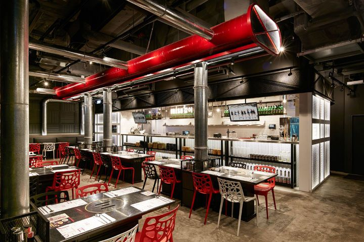 This Korean BBQ Restaurant was Designed by ARTTA Concept Studio #food trendhunter.com