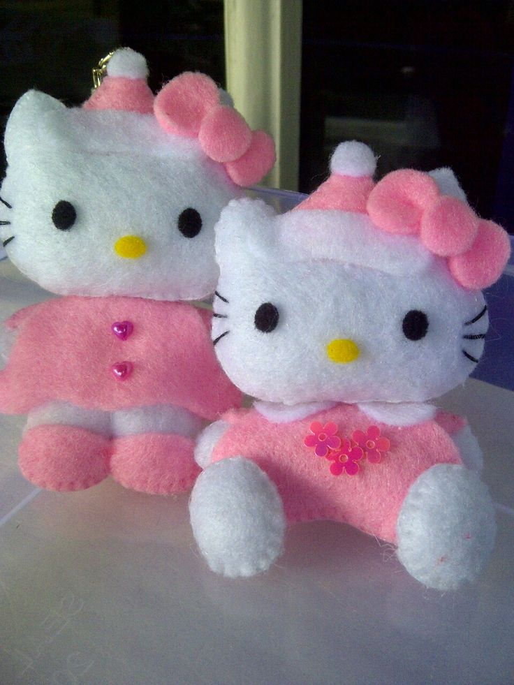 kitty santa pink