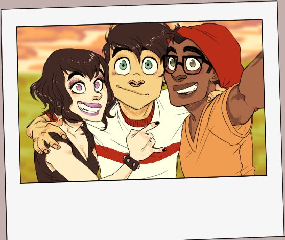 """skellagirl: """" We've been watching Danny Phantom a lot lately. Here's some slightly older buddies!! """""""