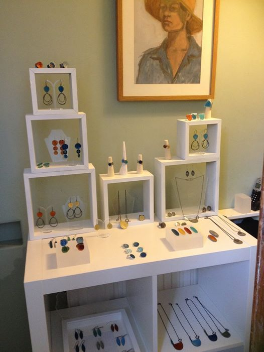 Caroline Finlay jewellery display.