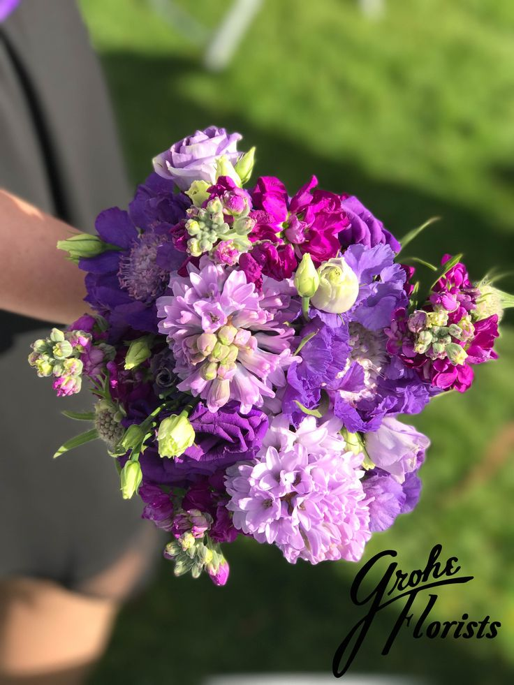 rainbow wedding #lavender and #purple #wedding  #hyacinth purple wedding #flowers #bridesmaid #bouquet
