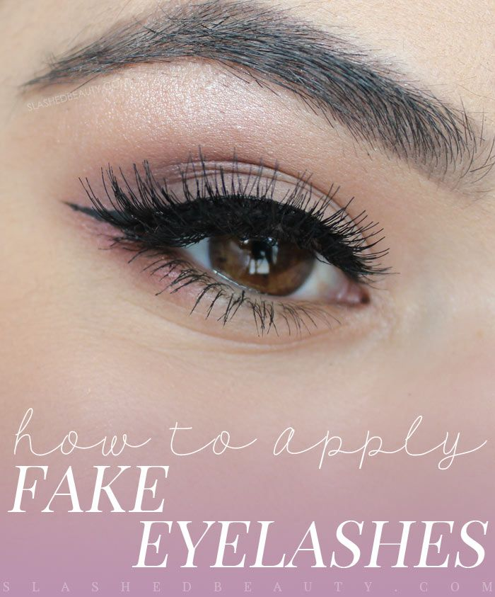 False eyelashes can glam up any look. Learn how to put on fake eyelashes and tips for beginners.