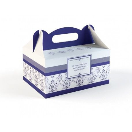 Pudełka na Ciasto - Pudełko Granatowe