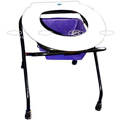 GPC Medical Ltd. - Exporter, Manufacturers & Supplier of Folding commode, folding commode chair, folding bedside commode, aluminium folding commode from India.