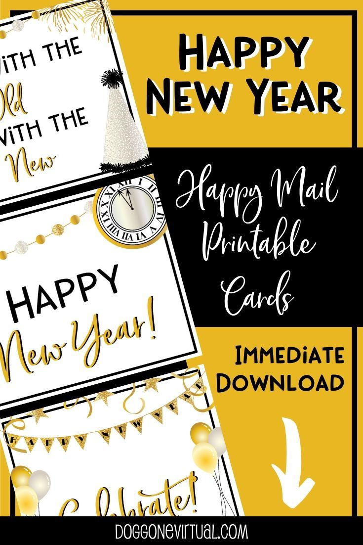 Happy New Year Printable Thank You Cards For Direct Sellers Dog Gone Virtual Printable Thank You Cards Facebook Party Graphics Printable Postcards