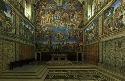 Took a virtual tour of Michelangelo's Sistine Chapel and got dizzy with delight.