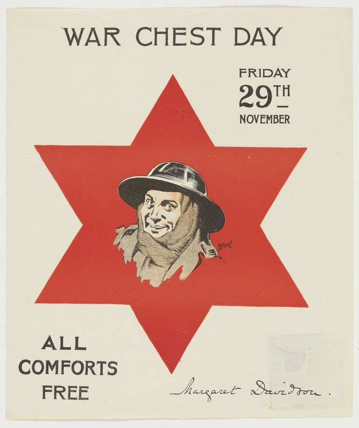 War chest day / WWI enlistment poster from the collection of the State Library of NSW. To order an archival print of this image call the Library Shop on 61 2 9273 1611 quoting order number a8559001