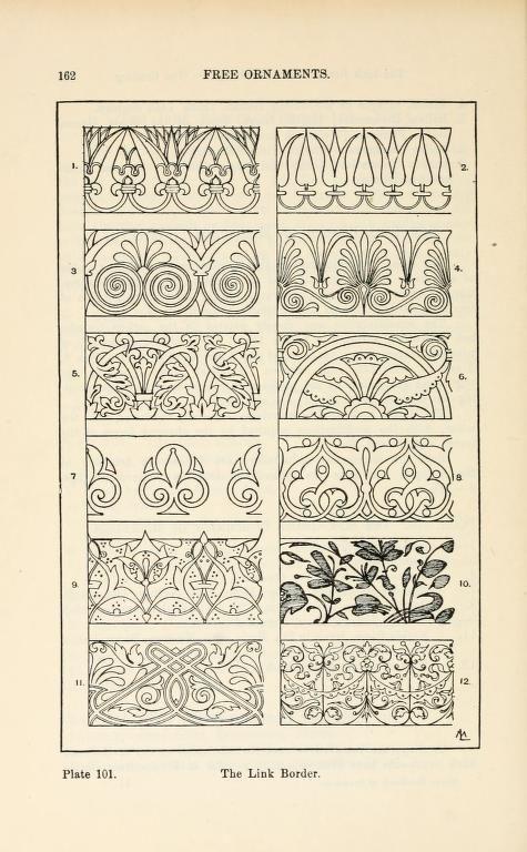 A handbook of ornament Free Ornaments The link border pg 162