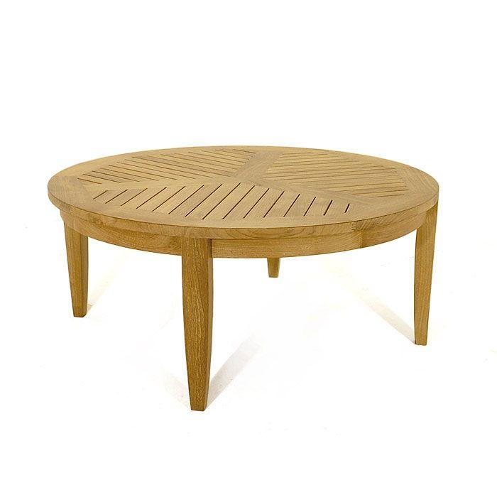Laguna Teak Round Coffee And Sofa Table   Westminster Teak Outdoor Furniture