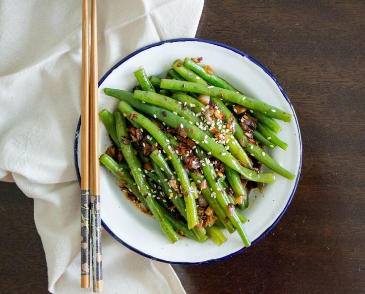 SICHUAN GREEN BEANS - The Blurry Lime