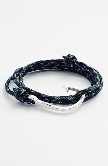 Men's Miansai Silver Hook Rope Bracelet - Black/blue