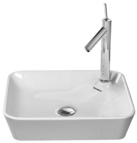 Duravit 23224600001 Starck 1 18-1/8 Inch Deck Mounted Bathroom Sink White with WonderGliss