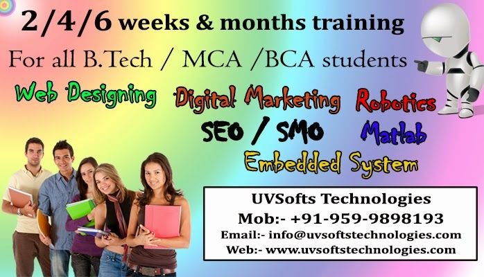 UVSofts Technologies: 2/4/6 Weeks or Months  Industrial Training from UV...